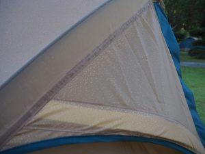 テントの結露