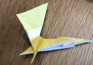 キリンの折り紙工程1