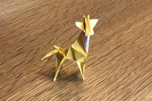 キリンの折り紙完成