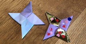 シュリケンの折り紙