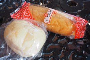 白パンと信玄餅パン