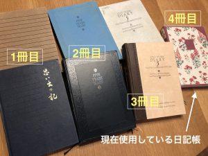 4冊の5年日記